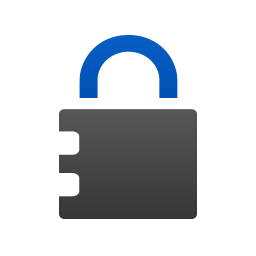 Key in a circle icon