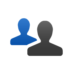 People silhouette icon
