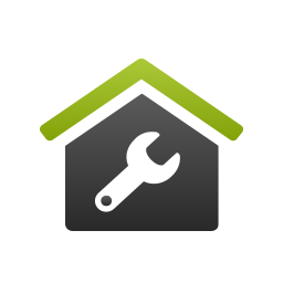 House and a wrench icon