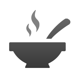 Bowl with soup icon