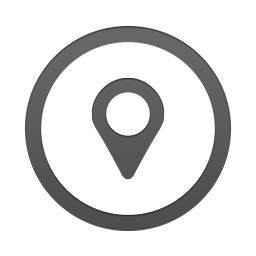 Location pin in a circle icon