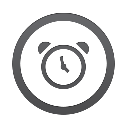 Clock in a circle icon