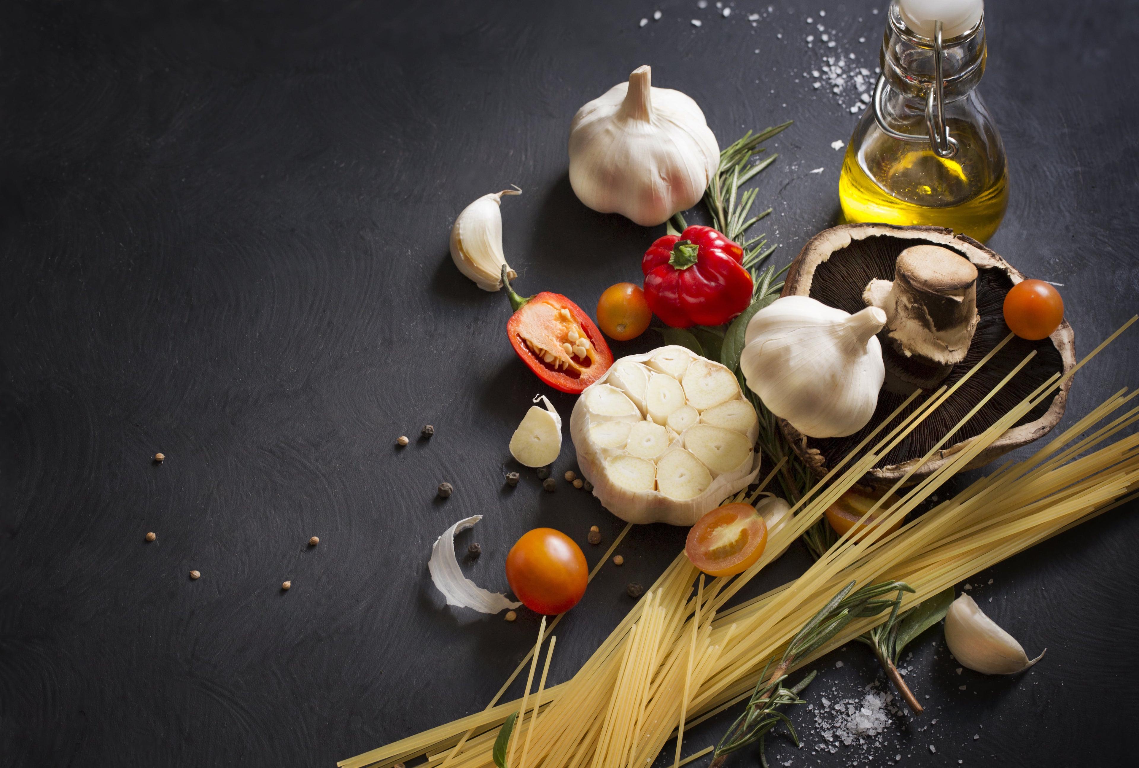 Zutaten für die italienische Küche