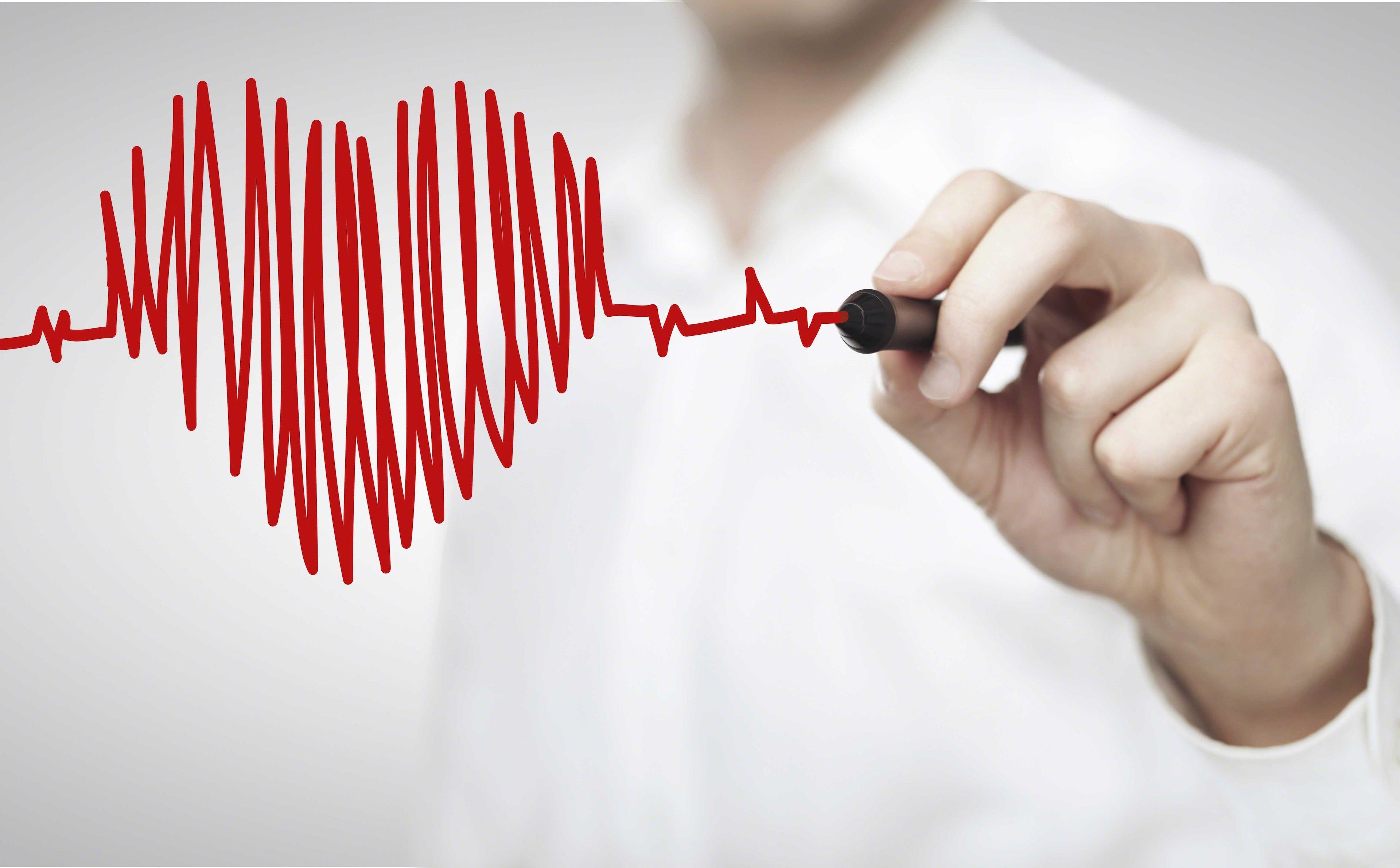 Corazón en línea de vida